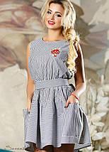 Женское летнее расклешенное платье из хлопка (2164-2178-2179 svt), фото 2