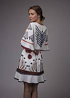 Платье женское белое с принтом