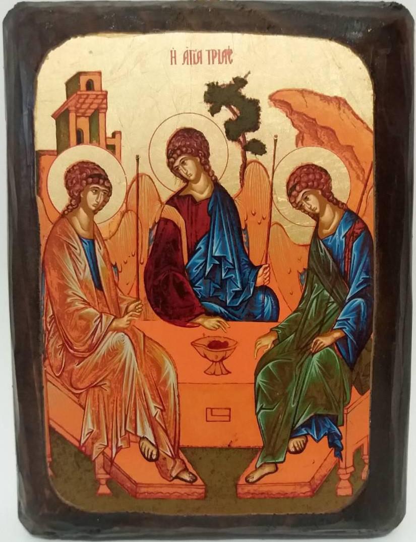 Икона Троица Ветхозаветная