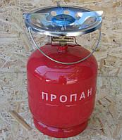 Газовые баллоны 8 литров с горелкой Пикник. Газовый комплект 8 л