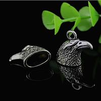 """Концевик  для бисерных жгутов """"Орел"""", 2 шт., металл, цвет серебро, 20 х 22 мм"""