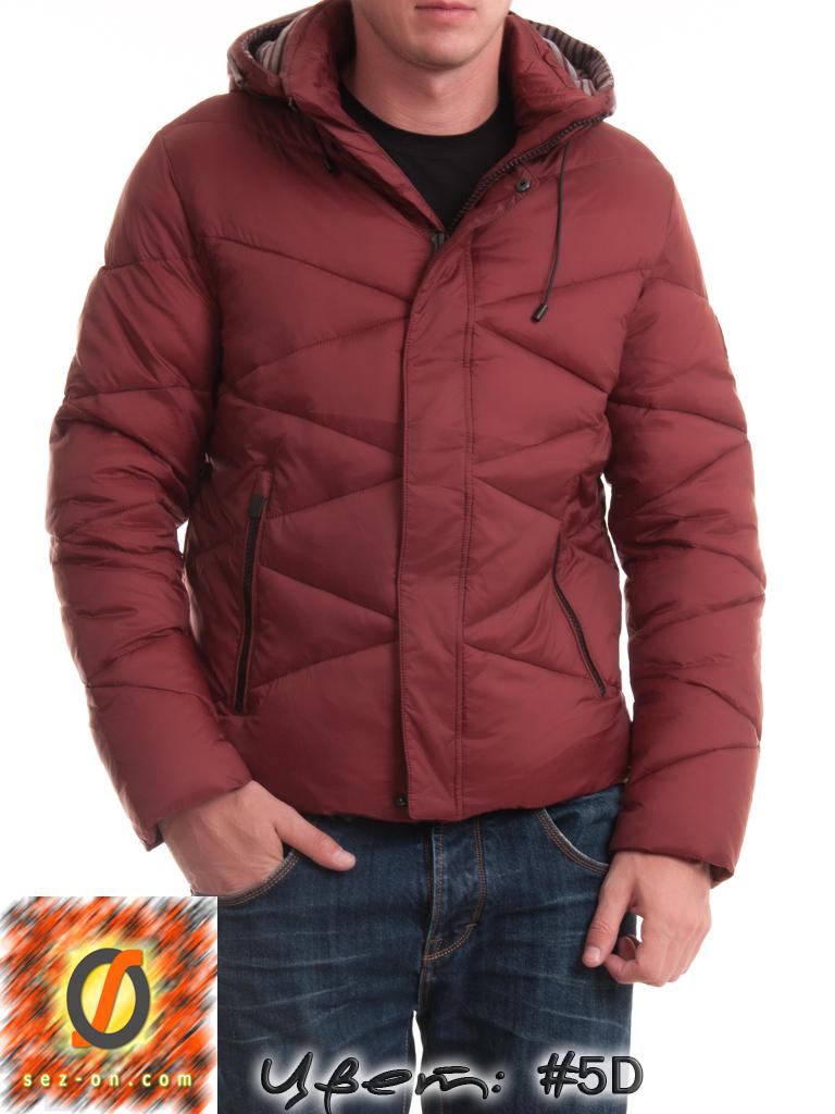 Куртка мужская Malidinu зимняя 14937 наполнитель Тинсулейт. Бордовый