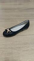 Туфли школьные чёрные для девочки, размер 34-35-36