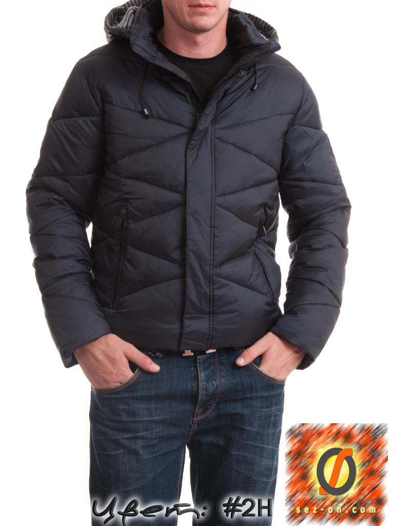 Куртка мужская теплая Malidinu 14937 наполнитель Тинсулейт. Индиго
