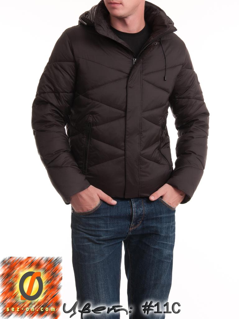 Теплая куртка мужская зимняя Malidinu 14937 наполнитель Тинсулейт. Коричневый
