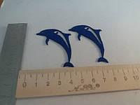 Дельфин клеевая аппликация