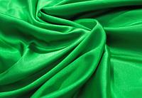 Ткань атлас зеленый для одежды