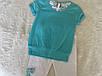Летний костюм для девочки с бирюзовой футболкой, фото 2