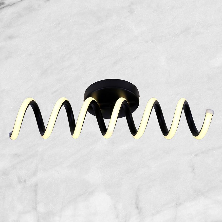 Маленький потолочный светильник (чёрный 12W)