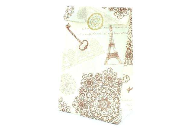 Подарочный пакет бумажный с эйфелевой башней