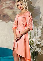 Короткое женское платье с удлиненной спинкой (2180-2182-2184 svt), фото 2