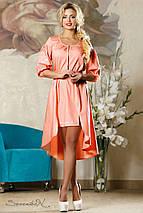 Короткое женское платье с удлиненной спинкой (2180-2182-2184 svt), фото 3