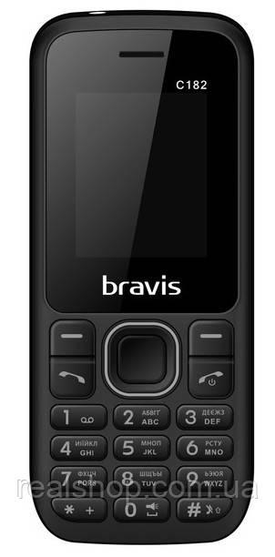 Мобильный телефон Bravis C182 Simple Dual Sim Black