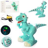 Динозавр 908B р/у, аккум, 25см, муз,зв,св, ездит,ходит,шевелит хвостом,USB,в кор-ке,70-30-17см