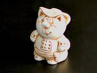 Гипсовая фигурка Кот в вышиванке