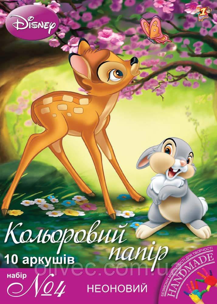 "Бумага цветная неоновая ""Disney"""