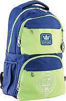 Рюкзак подростковый OX 233, сине-зеленый, 31*46*17
