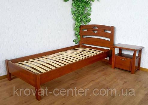"""Ліжко односпальне з масиву натурального дерева """"Сакура"""" від виробника, фото 2"""