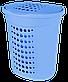 Корзина для белья 60л прямая голубая Алеана, фото 3