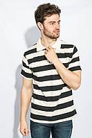 Поло мужское базовый цвет 185F158-33 (Молочно-черный)