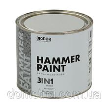 Краска молотковая Hammer Paint 3 in 1 Серая 0.7 л.