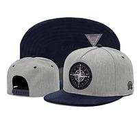 Серо-синяя летняя кепка регулируемый Snapback