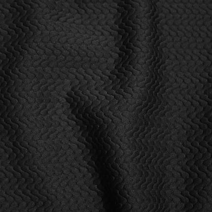 Стеганный трикотаж черный D-5203, фото 2