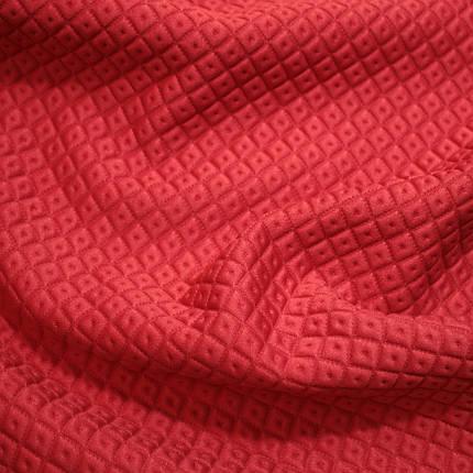 Стеганный трикотаж ромб красный, фото 2
