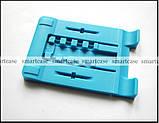 Синяя настольная пластиковая подставка трансформер для фиксации планшета, смартфона (просмотр видео), фото 4