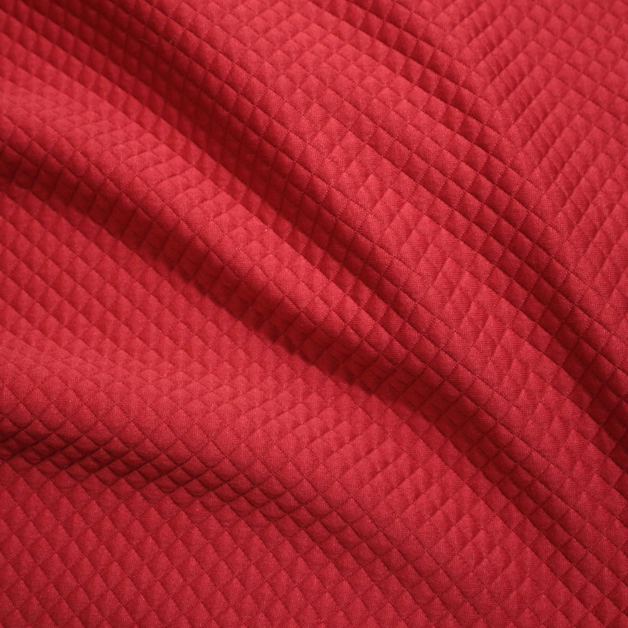 Стеганный трикотаж ромбик красный