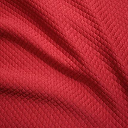 Стеганный трикотаж ромбик красный , фото 2