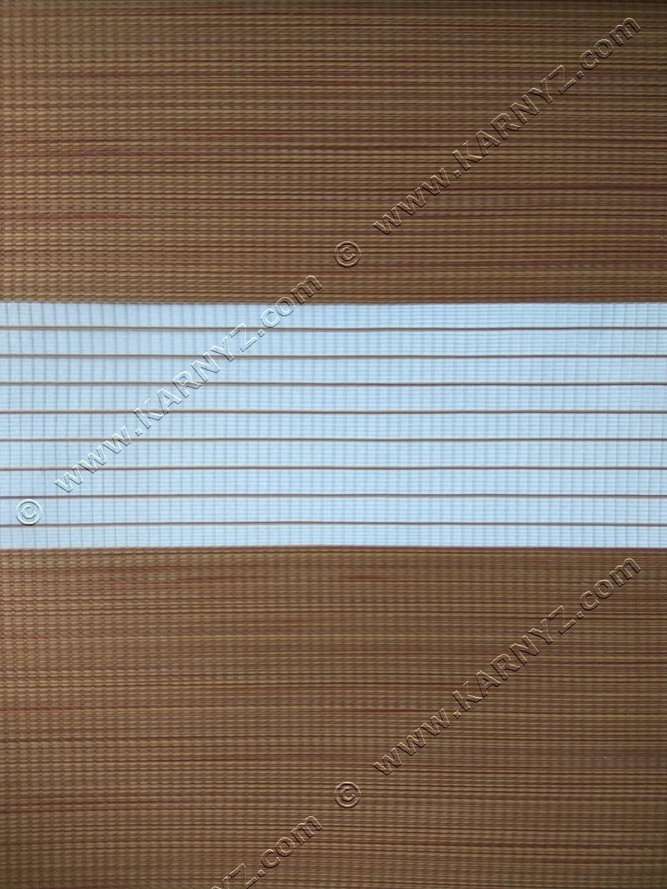 Рулонні штори День-Ніч Вьюти натурал B-615 карамель