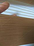 Рулонні штори День-Ніч Вьюти натурал B-615 карамель, фото 2