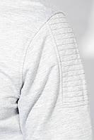 Кофта мужская с капюшоном 423F001-1 (Светло-серый)