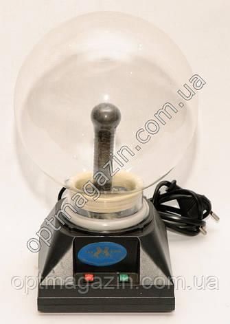 """Плазмовий куля з блискавками. Нічник світильник Plasma Light. Куля з новинами 6"""", фото 2"""