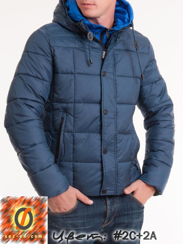 Теплая куртка Malidinu мужская зимняя 14936 наполнитель Тинсулейт. Бирюзовый