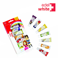 "Детская зубная паста Edel+White  ""7 фруктов"",  набор 7 паст по 9,3 мл, фото 1"