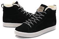 Зимние мужские  кроссовки с мехом Adidas Ransom Fur  Вlack