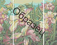 """Схема для вышивки бисером Триптих """"Орхидеи"""""""