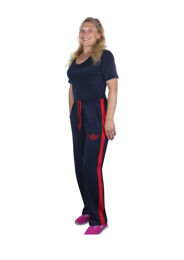 спортивные брюки больших размеров Лилея с красным лампасом