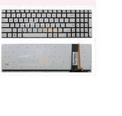 Клавиатура для ноутбука ASUS (G550, N550, N750 series) rus, silver, подсветка клавиш, без фрейма