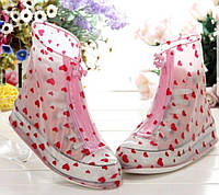 Стильные складные резиновые сапоги для женщин (чехлы-галоши на обувь) Iloverain 36-37 L