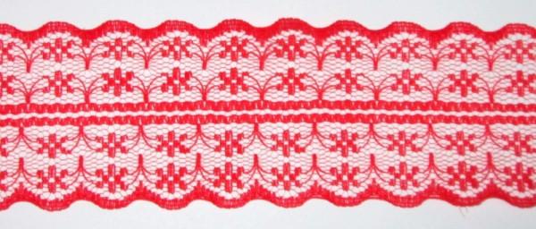 Кружево гипюр двухстороннее 4 см, красное