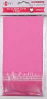 Набор розовых заготовок для открыток, 10см*20см, 230г/м2, 5шт.