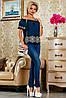 Хлопковая блуза с вышивкой и открытыми плечами (2225-2222-2228-2226-2227 svt), фото 2
