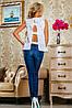 Летняя женская блуза из принтованного батиста (2229- 2230 svt), фото 6