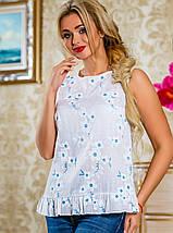Летняя женская блуза из принтованного батиста (2229- 2230 svt), фото 2