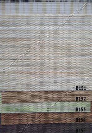 Рулонные шторы День-Ночь Индиго B-152 молочный шоколад, фото 2