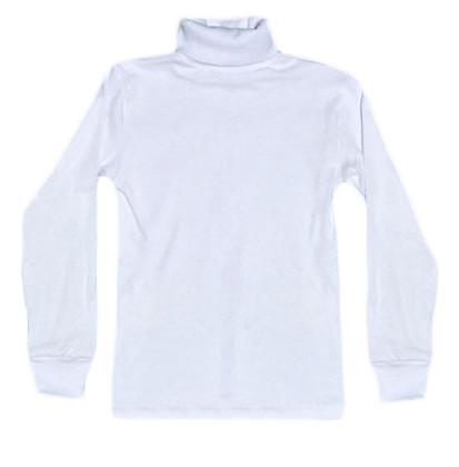 Водолазка белая школьная для мальчика подростка 00976, рубчик, р.р.40,42