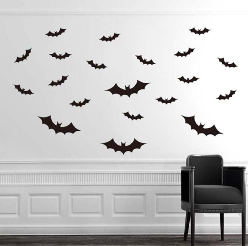 """Наклейки для Halloween """"Летучие мыши"""" - размер наклейки 15*22,5см, (расклеиваете по-желанию)"""